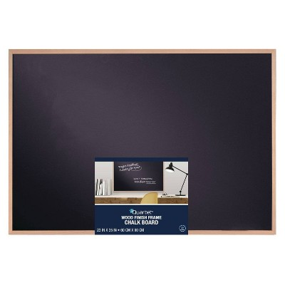 "Quartet 23"" x 35"" Chalk Board with Wood Finish Frame"
