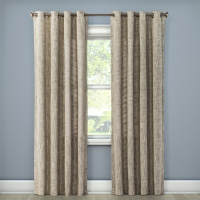 Textured Weave Window Curtain Panel Light Gray (54 x84 )- Threshold™