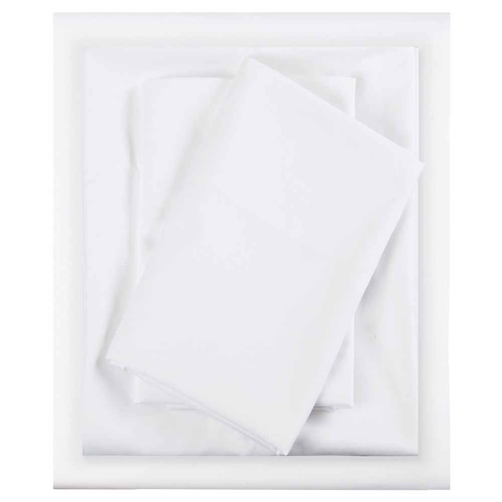King Microfiber All Season Wrinkle-Free Sheet Set White