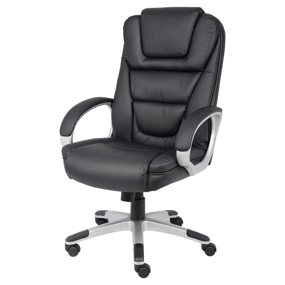 Executive Leatherplus Chair - Black - Boss Office Products