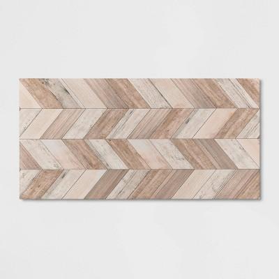 Wood Herringbone Vinyl Accent Mat Brown - Threshold™