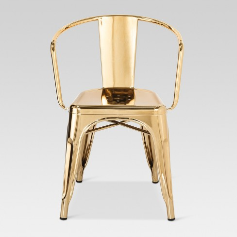 Carlisle Couture Metal Dining Chair Gold - Ace Bayou - image 1 of 4