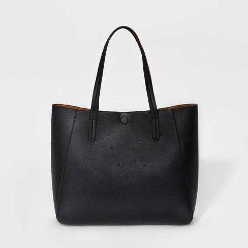 Small Reversible Tote Handbag A New Day Black Target