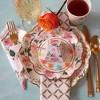 Set Of 24 Floral Premium Paper Plates Cream - image 3 of 4