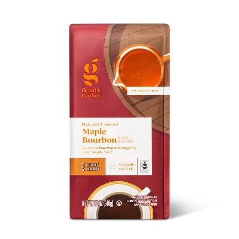 Naturally Flavored Maple Bourbon Light Roast Ground Coffee - 12oz - Good & Gather™ - image 1 of 3