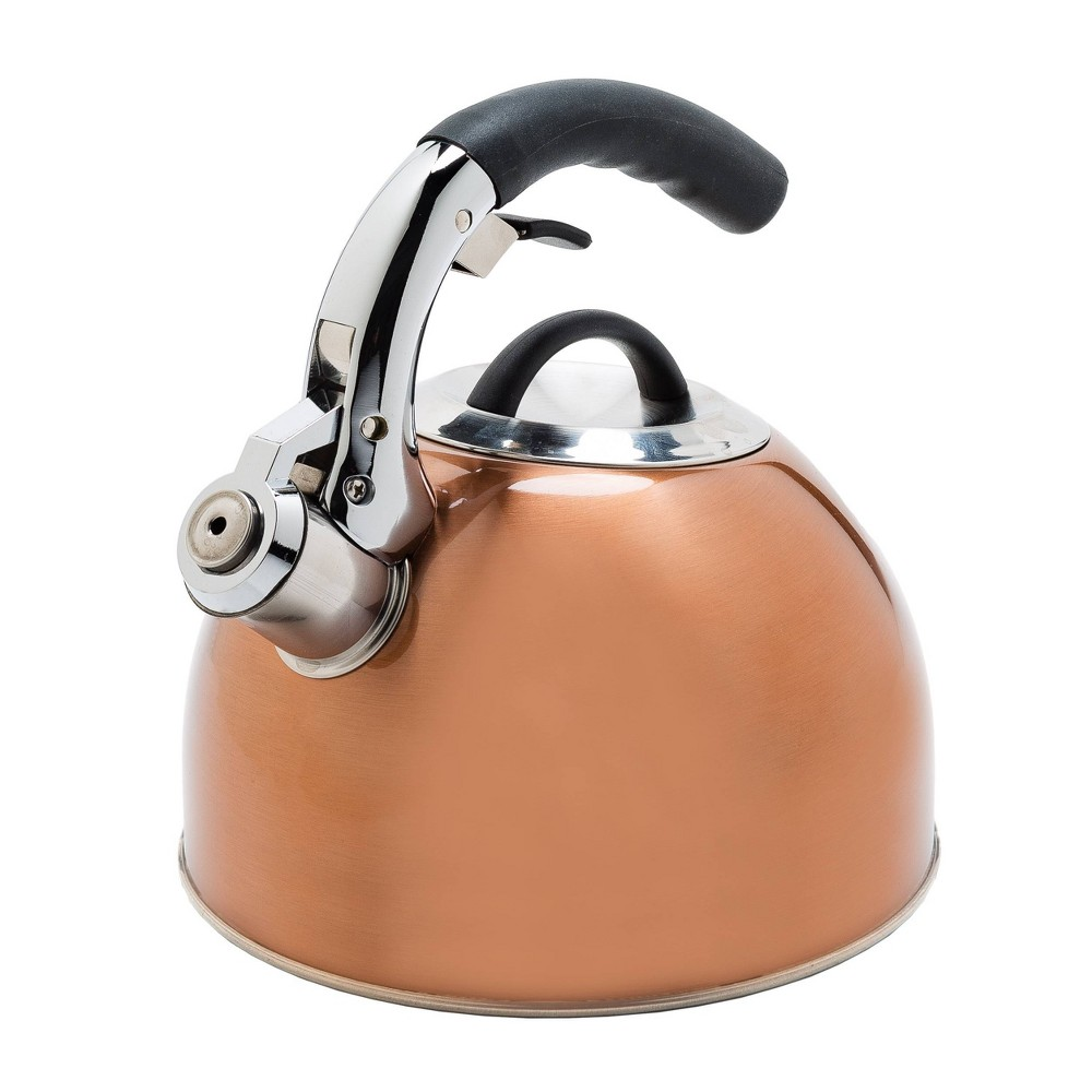 Image of Primula Connor 2.5Qt. Stainless Steel Whistling Kettle -Copper, Brown
