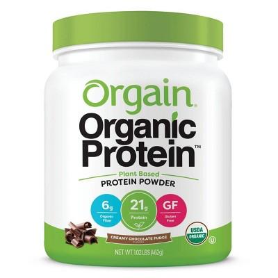 Orgain Organic Vegan Plant Based Protein Powder - Creamy Chocolate Fudge - 16.32oz