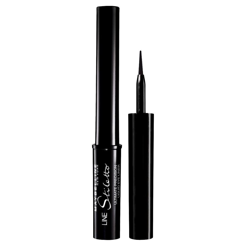 Image of Maybelline Line Stiletto Ultimate Precision Liquid Eye Liner 01 Blackest Black 0.05 fl oz