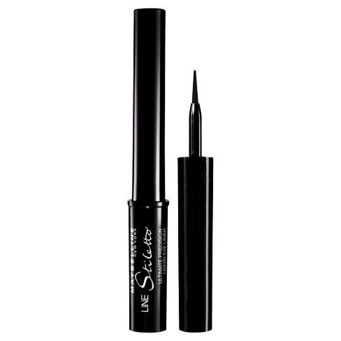 Maybelline Line Stiletto Ultimate Precision Liquid Eye Liner 01 Blackest Black 0.05 fl oz - image 1 of 4