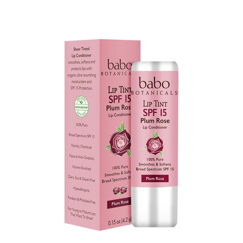 Babo SPF 15 Lip Tint Conditioner - Plum Rose - .15oz - image 1 of 2