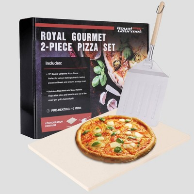 Royal Gourmet 2pc Pizza Cookware Set for Grill Oven