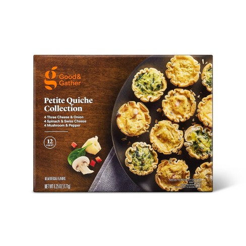 Frozen Petitie Quiche Collection - 6.25oz/12ct - Good & Gather™ - image 1 of 2