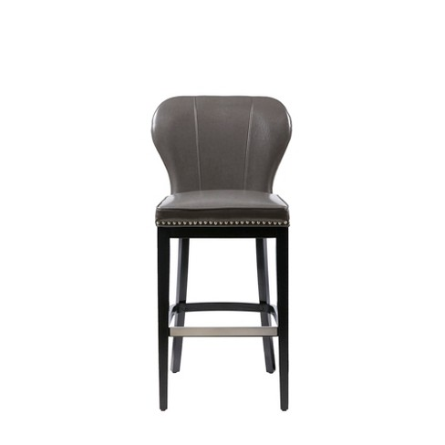 Bally Bar Stool Gray/Black - image 1 of 4
