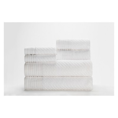 6pc Beacon Bath Towels Sets White Caro Home
