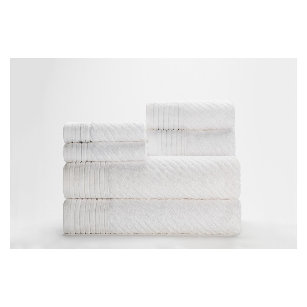 Image of 6pc Beacon Bath Towels Sets White Caro Home