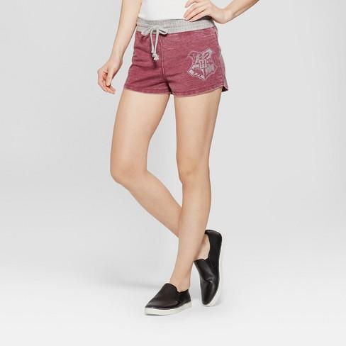 364ca384de60 Women s Harry Potter Hogwarts Pull-On Shorts (Juniors ) Burgundy S ...