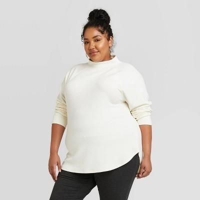 Women's Plus Size Feminine Fleece Sweatshirt - Ava & Viv™