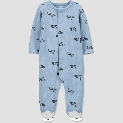 Baby Boys' Fox Thermal Sleep N' Play - Just One You® made by carter's Blue 3M