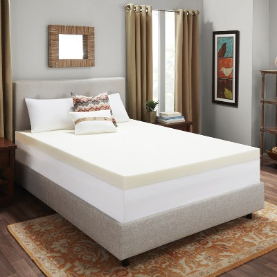 "King 4"" Memory Foam Mattress Topper White - Authentic Comfort"