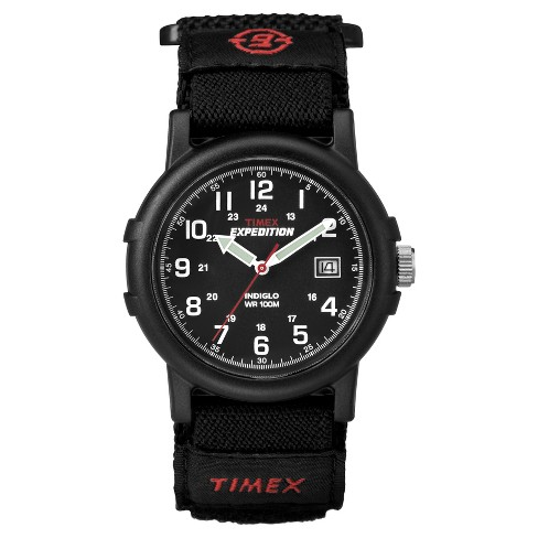 Men's Timex Expedition® Camper Watch with Fast Wrap® Nylon Strap - Black T40011JT - image 1 of 4