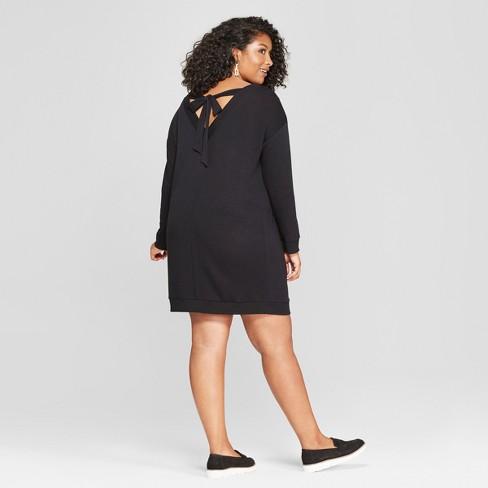 Womens Plus Size Tie Back Dress Ava Viv Black X Target