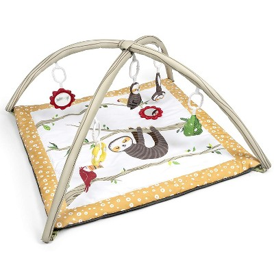 JumpOff Jo - Infant Activity Gym and Baby Play Mat - Ages 0-18 mo. - Tropical Jungle Sloth