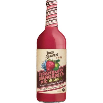Tres Agaves Organic Strawberry Margarita Mix - 1L Bottle