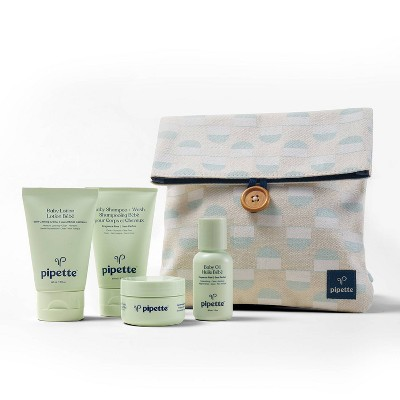 Pipette Baby Travel Bath And Body Gift Set - 4pc