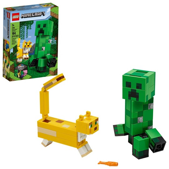 LEGO Minecraft Creeper BigFig and Ocelot 21156 Buildable Minecraft Toy image number null