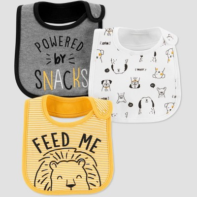 Baby Boys' Feed Me Bib - Just One You® made by carter's OSZ Yellow