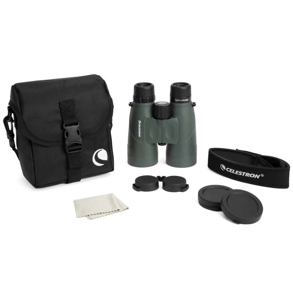Image of Celestron Nature DX 10x56 Zoom Binoculars - Black, Green
