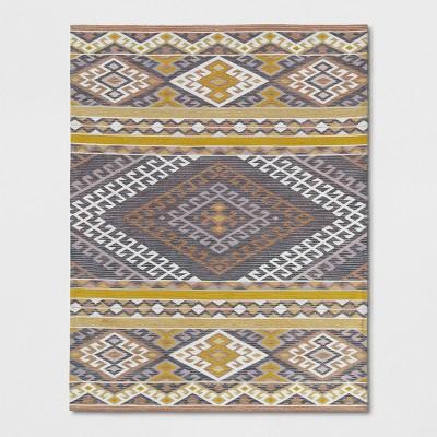 Pink/Orange/Yellow Geometric Woven Area Rug 5'X7' - Opalhouse™