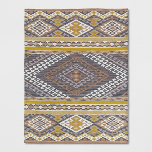 Pink Orange Yellow Geometric Woven Area Rug Opalhouse Target