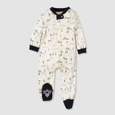 Burt's Bees Baby® Baby Boys' Organic Cotton Mountains Sleep N' Play - Blue - image 1 of 2