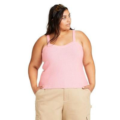 Women's Sweater Tank Top - Sandy Liang x Target Pink