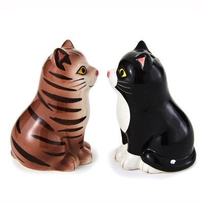 Lakeside Cat Shaped Salt and Pepper Shakers for Pet Lovers - Set of 2