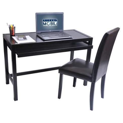 Matching Desk With Keyboard Panel And Chair Set Wenge Techni