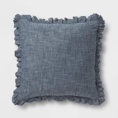 Chambray Euro Pillow Blue - Threshold™