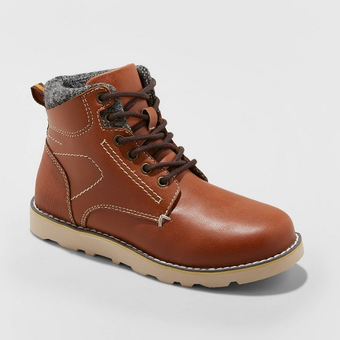 Boys' Ashur Fashion Boots - Cat & Jack™ Brown - image 1 of 3