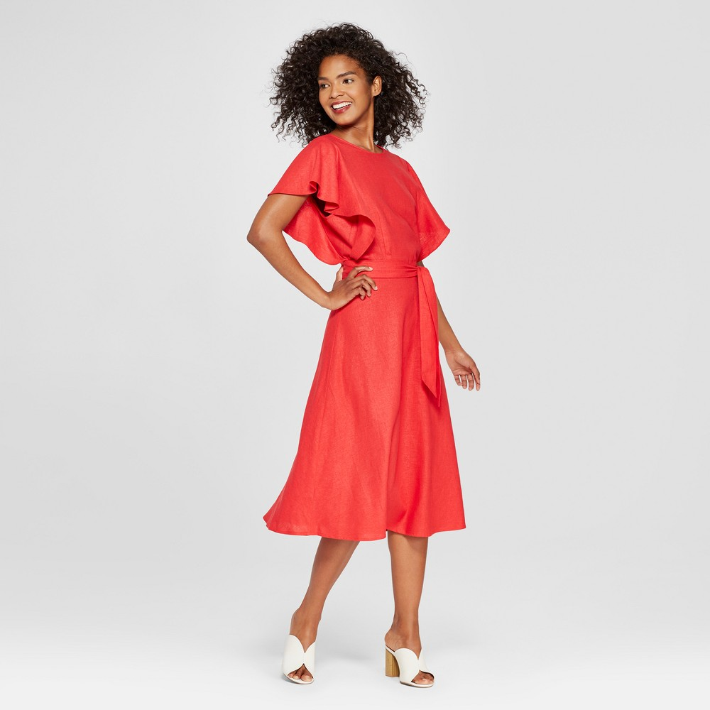 Women's V-Back Midi Dress - Who What Wear Red S