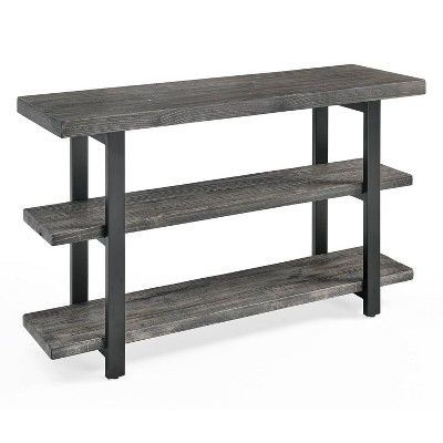 """48"""" Pomona Metal and Reclaimed Wood Media/Console Table Slate Gray - Alaterre Furniture"""