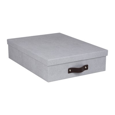 Set of 3 Oskar Canvas Document Box Ash - Bigso Box of Sweden
