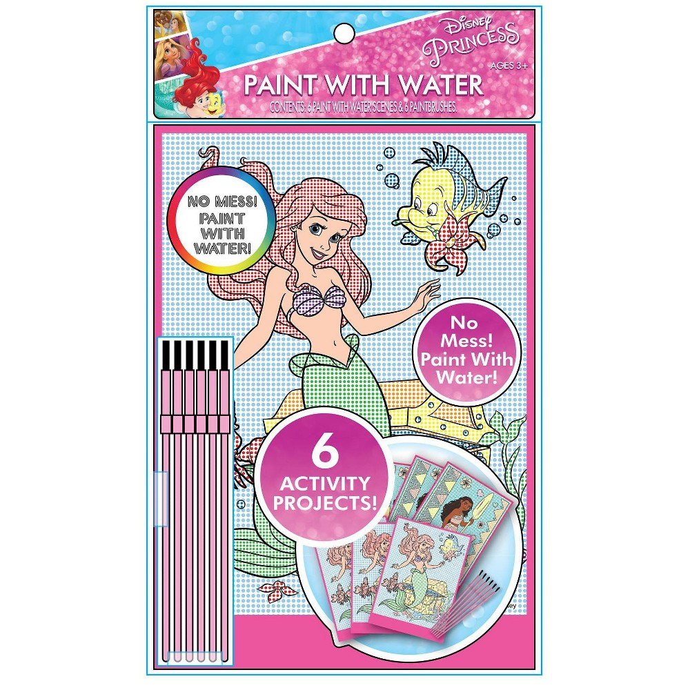 Image of Disney Princess 6pk Water Paint