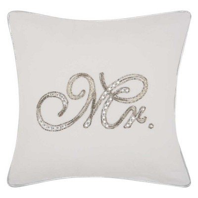 White Letters Throw Pillow - Mina Victory