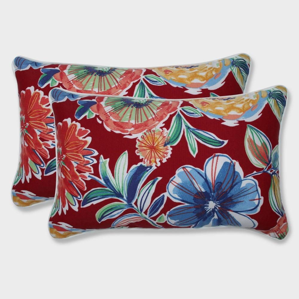 2pk Colsen Berry Rectangular Throw Pillows Red Pillow Perfect