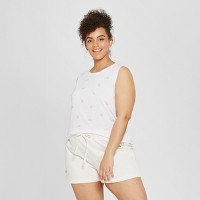 Modern Lux Women's Plus Size I Do Graphic Tank Top (White)