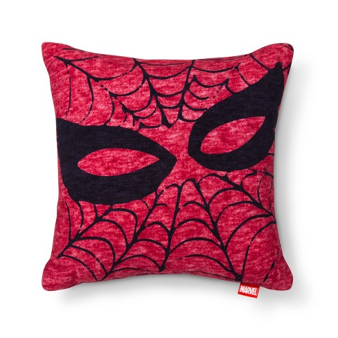 Spider Man Mask Red Throw Pillow 15 X15