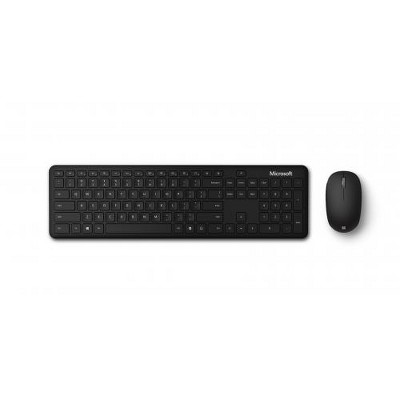 Microsoft Bluetooth Keyboard & Mouse Desktop Bundle - Bluetooth Connectivity - 2.4 GHz Operating frequency - 3-button Mouse w/ fast tracking sensor