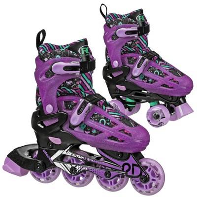 Roller Derby Lomond Girls' Adjustable Inline-Quad Combo Skates - Black