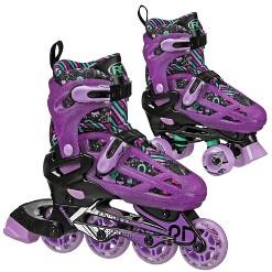 Roller Derby Lomond Girls Adjustable Inline-Quad Combo Skates Size 12-2 - Black